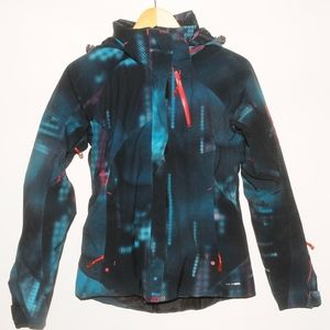 SALOMON Green Multi Color Ski Winter JACKET S
